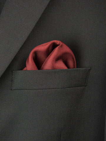 Boy's Pocket Square 27694 Burgundy Boys Pocket Square Heritage House