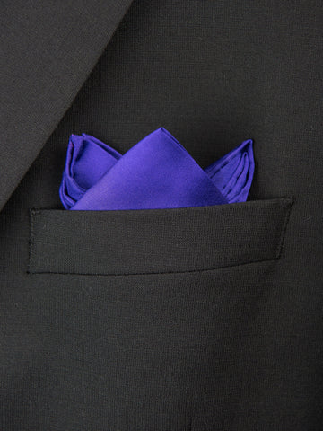 Boy's Pocket Square 27699 Royal Purple Boys Pocket Square Heritage House