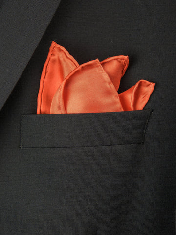 Boy's Pocket Square 27707 Orange Boys Pocket Square Heritage House