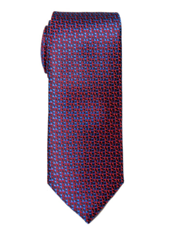 Boy's Tie 27729 Red/Blue Neat Boys Tie Heritage House