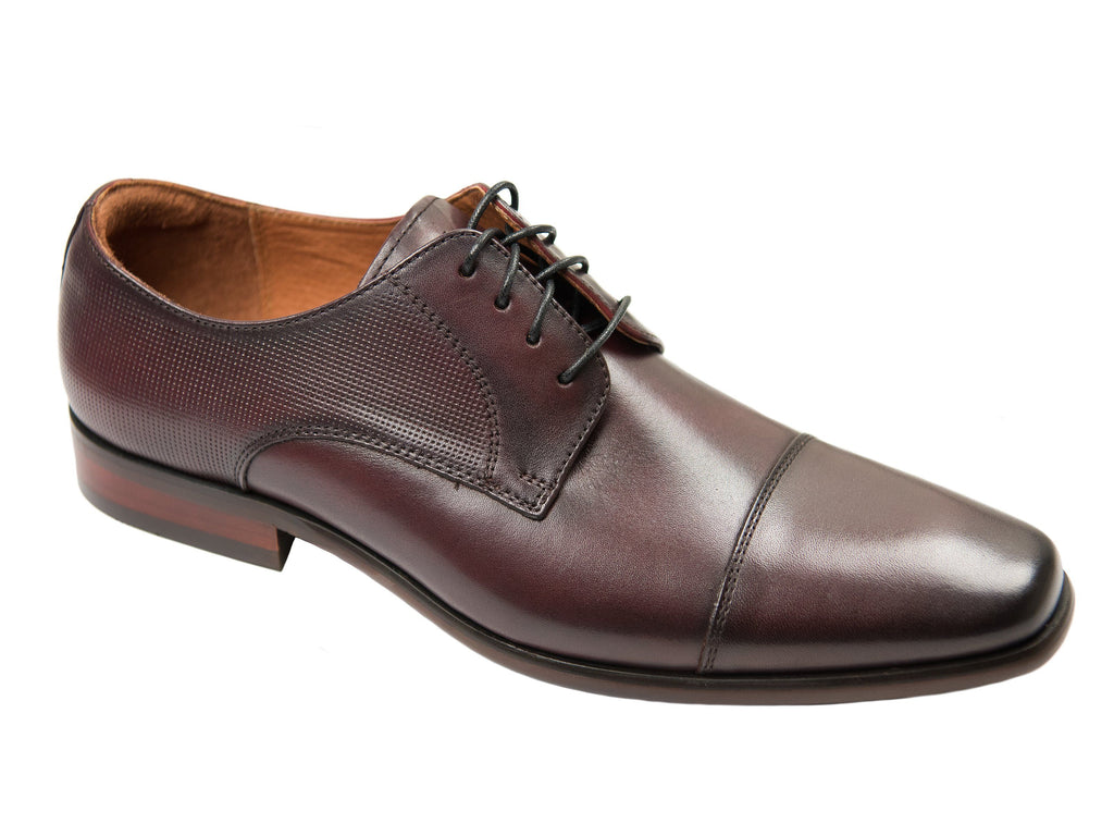 Florsheim 27819 Boy's Dress Shoe- Cap Toe Oxford- Smooth with Perforations-Burgundy Boys Shoes Florsheim