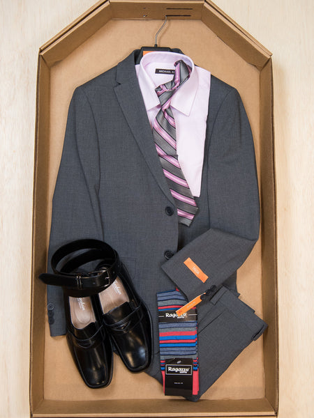 Complete Grey Skinny Fit Suit Outfit 27882