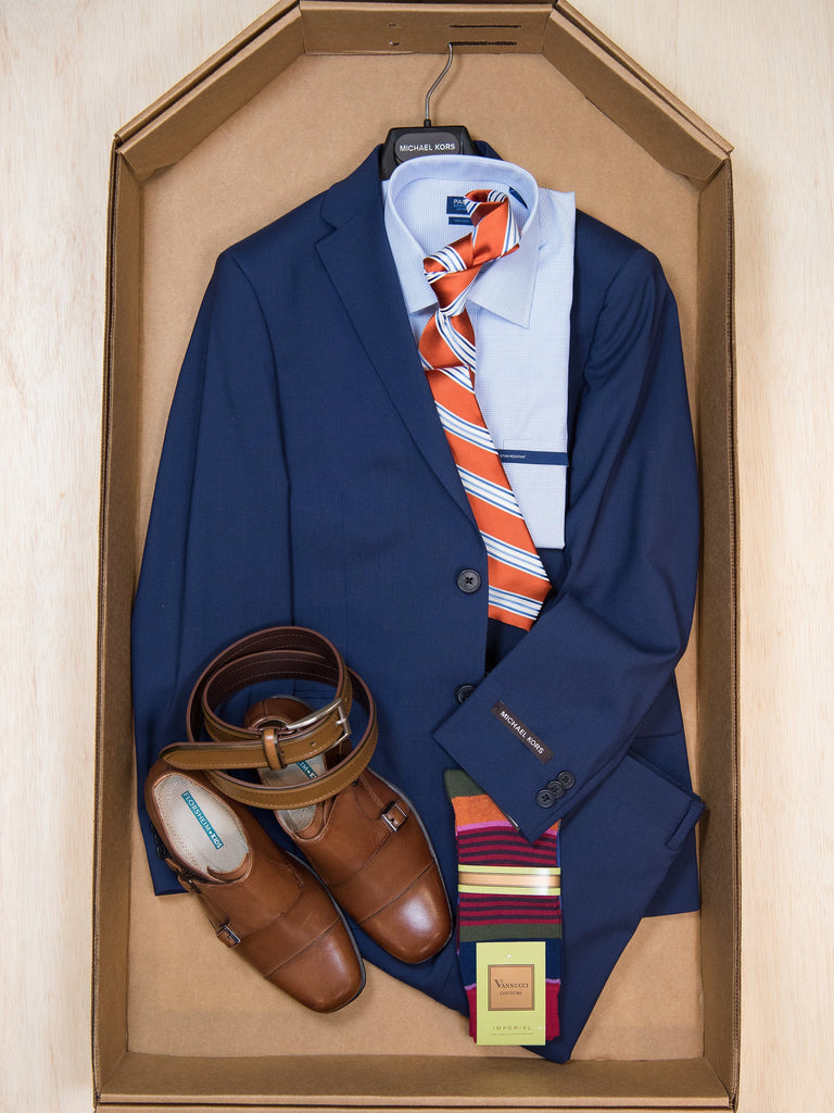 Complete Blue Suit Outfit 27889 Boys Suit Bundle M/Kors