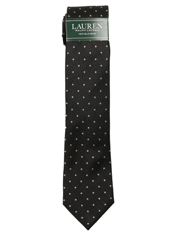 Lauren Ralph Lauren Boy's Tie 27971 Black Polka Dot Boys Tie Lauren