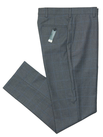 Lauren Ralph Lauren 28064P Boy's Suit Separate Pant - Windowpane - Grey/Blue Boys Suit Separate Pant Lauren Ralph Lauren