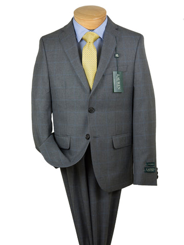 Image of Lauren Ralph Lauren 28064 Boy's Suit Separate Jacket - Windowpane -Grey/Blue Boys Suit Separate Jacket Lauren Ralph Lauren