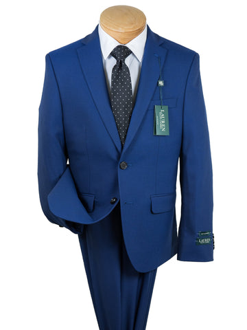Image of Lauren Ralph Lauren 28077 Boy's Suit Separate Jacket - Solid Gab -Italian Blue Boys Suit Separate Jacket Lauren Ralph Lauren