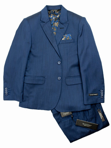 Leo & Zachary 28155 Boy's Suit Separate Jacket- Sharkskin-Ink Boys Suit Separate Jacket Leo & Zachary