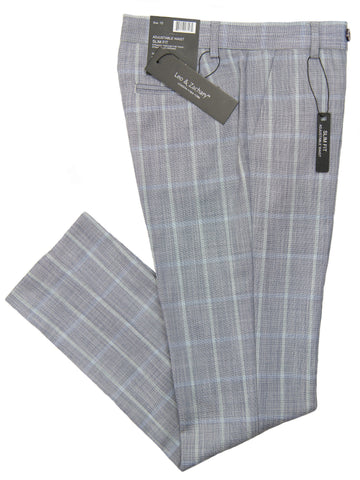 Leo & Zachary 28185 Dress Pant- Plaid- Aqua/Smoke Boys Dress Pant Leo & Zachary