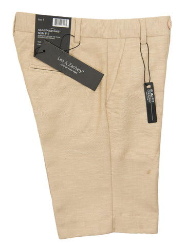 Leo & Zachary 28238 Boy's Short-Linen-Tan Boys Shorts Leo & Zachary
