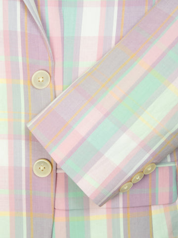Image of Summer Look 28242 Boy's Sport Coat - Plaid - Pink/Cream