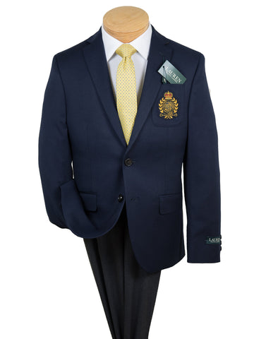 Image of Lauren Ralph Lauren 28263 Boy's Blazer - Navy with LRL Crest Boys Blazer Lauren