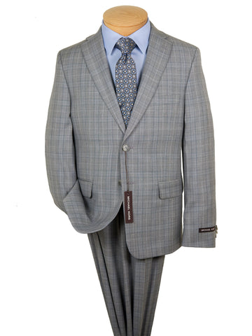 Image of Michael Kors 28270 Boy's Suit -Plaid - Light Grey Boys Suit Michael Kors