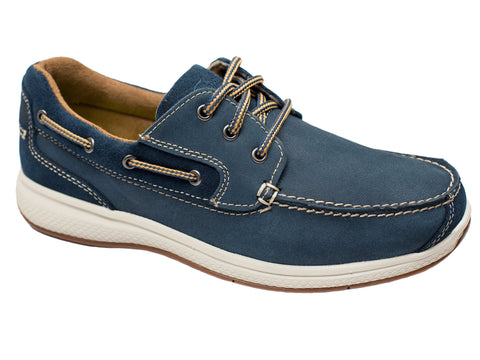 Florsheim 28369 Boy's Boat Shoe - Indigo Boys Shoes Florsheim