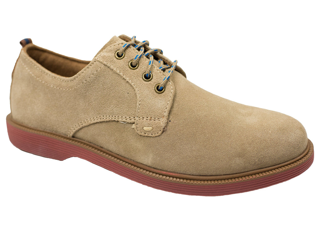 Florsheim 28383 Boy's Shoe - Plain Toe Ox-Suede-Sand Boys Shoes Florsheim