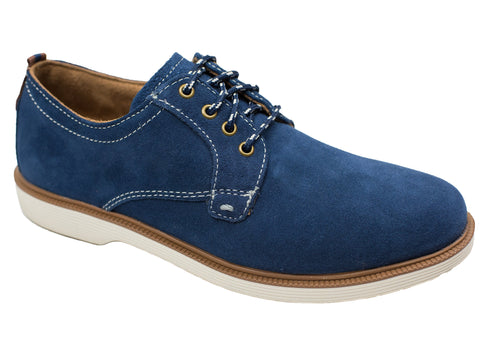 Florsheim 28396 Boy's Shoe - Plain Toe Ox-Suede-Navy Boys Shoes Florsheim