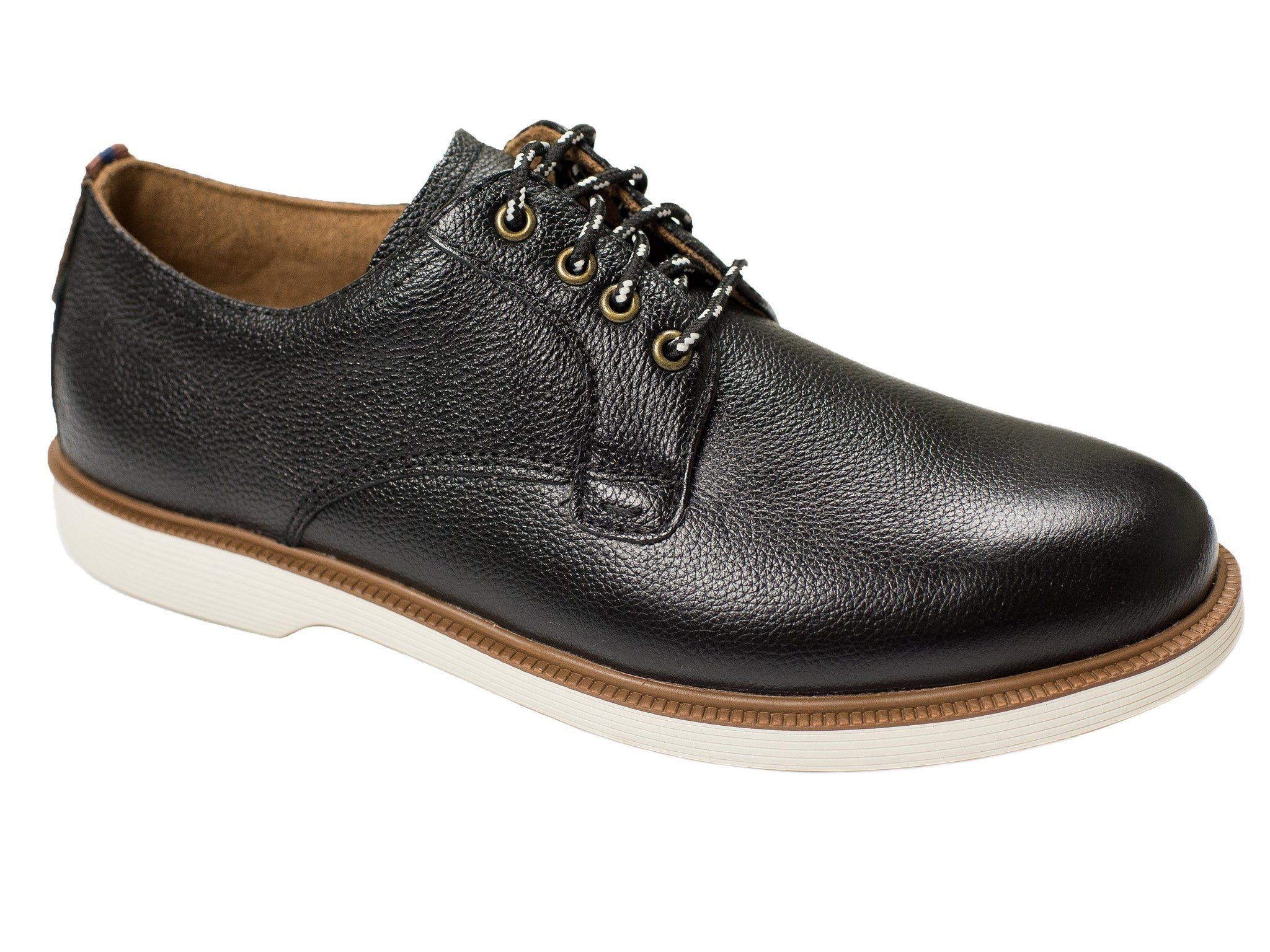 Florsheim 28409 Boy's Shoe - Plain Toe Ox-Pebble Grain-Black
