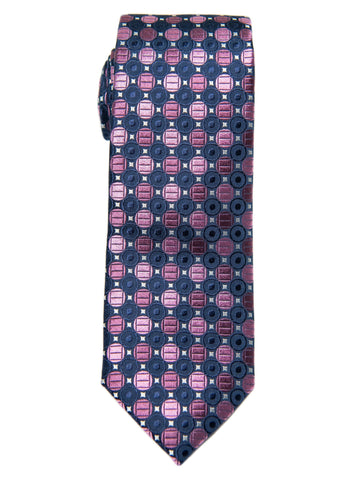 Boy's Tie 28447 Neat Pattern-Navy/Purple Boys Tie Heritage House