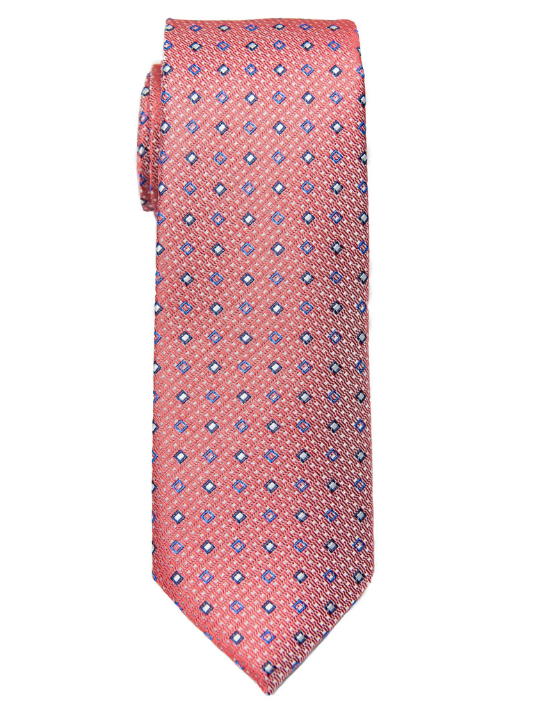 Boy's Tie 28456 Neat Pattern- Peach/Blue Boys Tie Heritage House