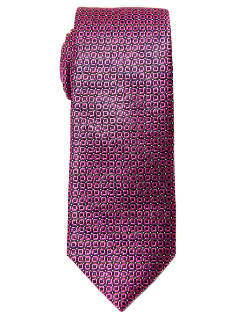Boy's Tie 28462 Neat Pattern- Rose/Black Boys Tie Heritage House