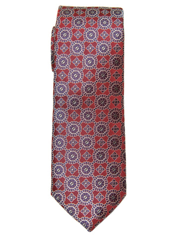 Boy's Tie 28465 Neat Pattern- Burgundy/Grey Boys Tie Heritage House