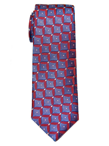 Boy's Tie 28468 Neat Pattern- Red/Blue Boys Tie Heritage House