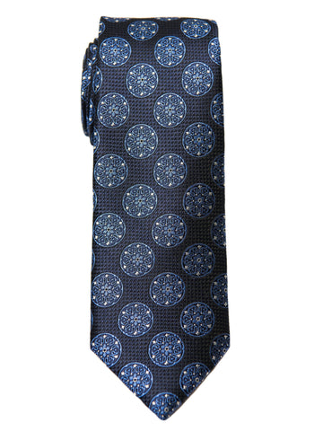 Boy's Tie 28471 Neat Pattern- Navy/Blue Boys Tie Heritage House