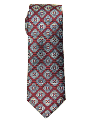 Boy's Tie 28474 Neat Pattern- Burgundy/Grey Boys Tie Heritage House