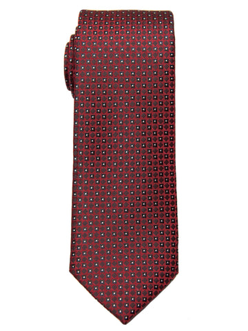 Boy's Tie 28477 Neat Pattern- Red/Black Boys Tie Heritage House