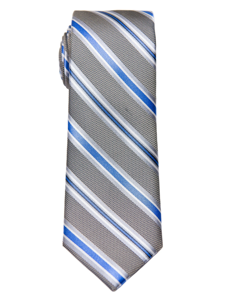 Heritage House 28480 Boy's Tie - Stripe - Khaki/Blue Boys Tie Heritage House