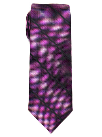 Heritage House 28483 Boy's Tie - Stripe - Rose/Burgundy Boys Tie Heritage House