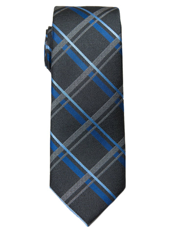 Boy's Tie 28486- Plaid-Charcoal/Blue Boys Tie Heritage House