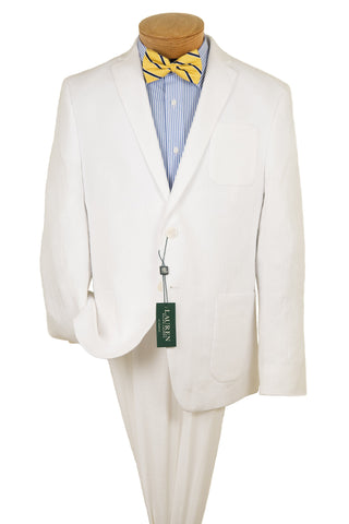 Lauren Ralph Lauren 28547 Boy's Suit Separate Jacket - 100% Linen - White Boys Suit Separate Jacket Lauren