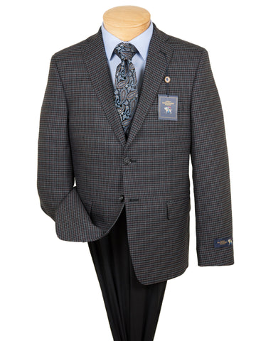 Image of HSM 28586 Boy's Sport Coat - Check - Grey Boys Sport Coat HSM