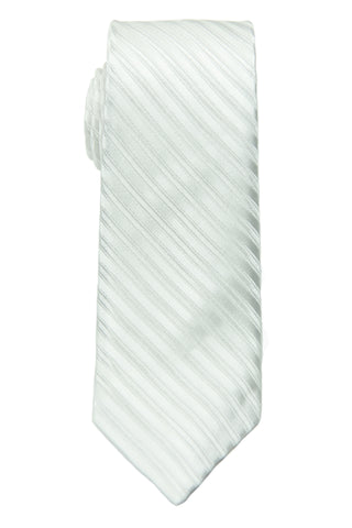 Heritage House 28801 100% Silk Tie-Tonal Stripe- White