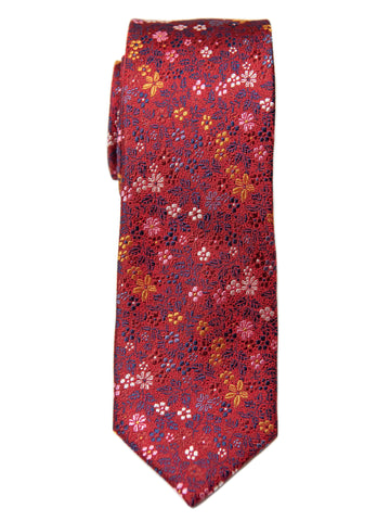 Heritage House 28806 100% Silk Boy's Tie - Floral - Red