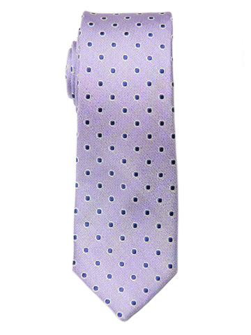 Heritage House 28833 100% Silk Boy's Tie - Neat - Lilac/Navy