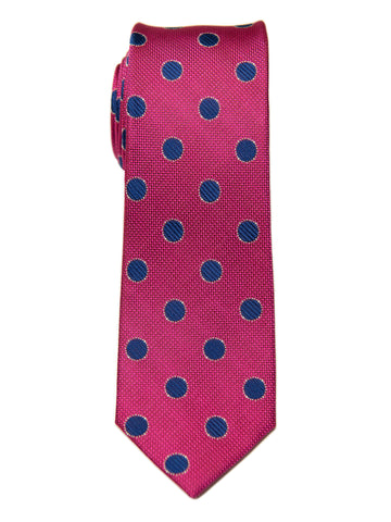 Heritage House 28843 100% Silk Boy's Tie - Neat - Red/Blue
