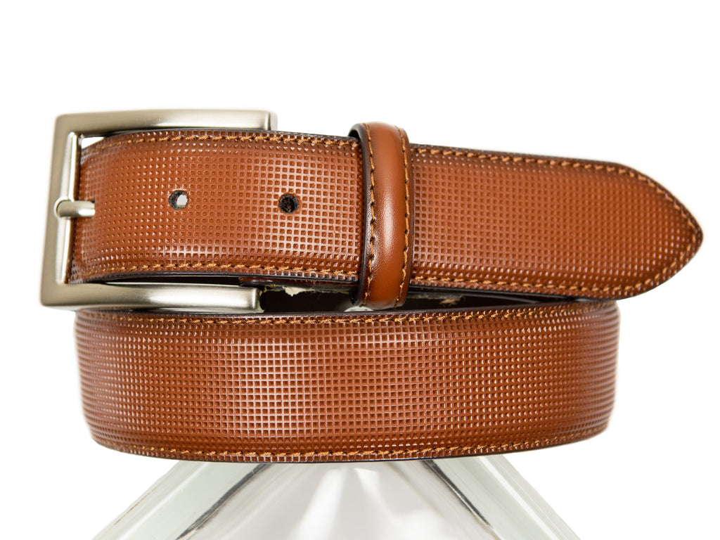 Florsheim Boy's Belt-28951-Perforated-Cognac