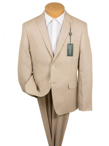 Lauren Ralph Lauren 28997 100% Linen Boy's Suit Separates Jacket - Solid - Tan