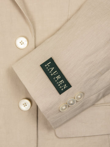 Image of Lauren Ralph Lauren 28997 100% Linen Boy's Suit Separates Jacket - Solid - Tan