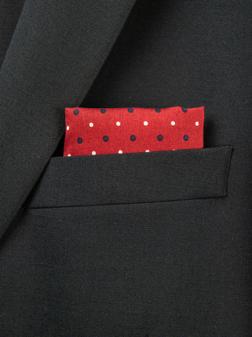 Boy's Pocket Square 29107 Red/Blue