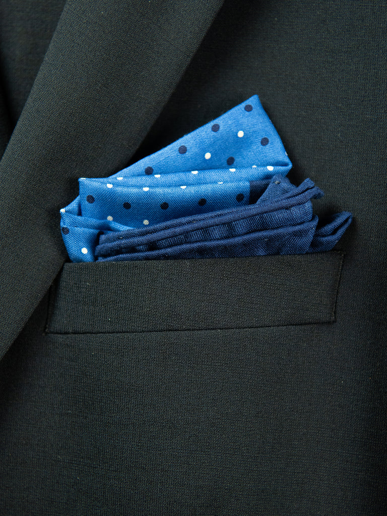 Boy's Pocket Square 29108 Blue