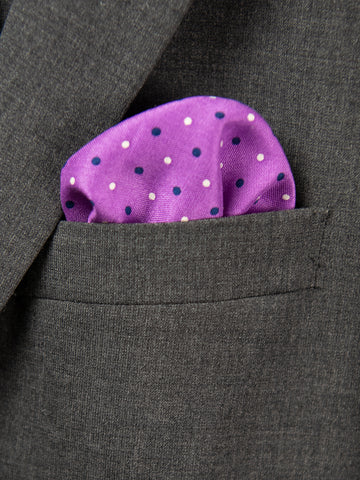 Boy's Pocket Square 29109 Purple/Blue