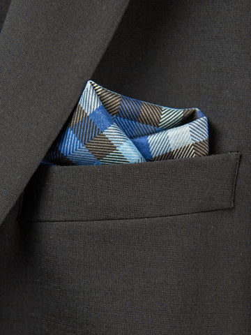 Boy's Pocket Square 29110 Blue/Grey