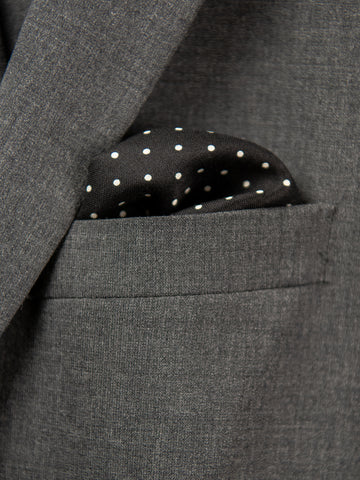 Boy's Pocket Square 29112 Black/White