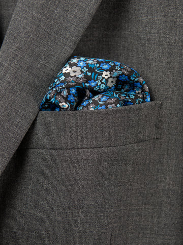 Boy's Pocket Square 29115 Blue/Grey