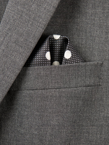 Boy's Pocket Square 29118 Black/White