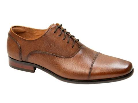 Florsheim 29168 Boy's Shoe - Cap Toe Oxford- Cognac