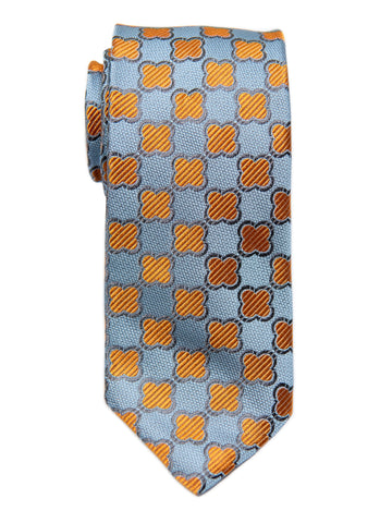 Dion 29189 Boy's Tie- Sky/Orange- Neat